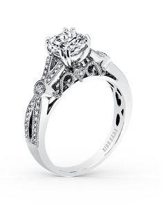 Split shank engagement ring   Kirk Kara Pirouetta Collection K165R   http://knot.ly/649681EFM