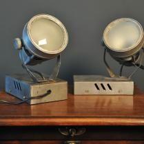Petite lampe en métal vintage