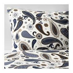 IKEA - SÖTBLOMSTER, Duvet cover and pillowcase(s), Full/Queen (Double/Queen), , Concealed snaps keep the comforter in place.