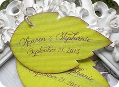 NEW  Personalized Rustic Leaf  Wedding / by LittlePaperFarmhouse, $7.50