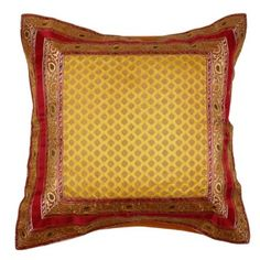 Indian Cushion Pillow Silk Covers 24 x 24 Decorative Sofa Couch Sofa Cushion Covers, Throw Pillow Covers, Cushion Pillow, Throw Pillows, Indian Heritage, Indian Home Decor, Bed Sheets, Cushions, Couch