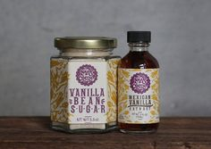 Gift includes: Vanilla Bean Sugar - 5.3 oz. + Mexican Vanilla Extract 2 fluid oz.  Vanilla Bean Sugar: Use in place of plain sugar to enhance the flavor of your favorite desserts, cereals, and drinks. Ingredients: organic cane sugar, Mexican vanilla beans. NO ARTIFICIAL PRESERVATIVES  Vanilla Extract: Infuse the essence of pure vanilla into your favorite desserts and drinks. One tablespoon of extract = one vanilla bean. Ingredients: Mexican vanilla beans, organic vodka. NO ARTIFICIAL…