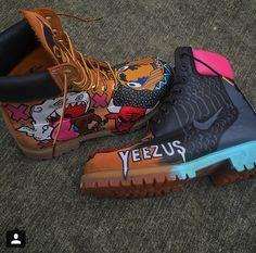 Kanye West YEEZUS Custom Timberland Boots