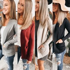 Classic Essential Cardigan - 4 Colors! Free Shipping! #look #style #follow #fashionaddict #happy #trendy #blackleggings #wiw #coffee #BESTSELLERS Spring Outfits, Winter Outfits, Louis Vuitton, Night Looks, Sophisticated Style, Alternative Fashion, Fashion Addict, What I Wore, Black Leggings