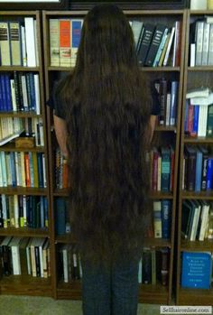 Cool LONG VIRGIN Brunette with natural highlights