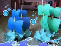 egg box pirate ships