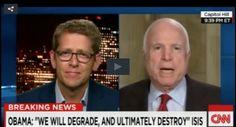 WATCH: Arizona Senator McCain Cannot Stop Hammering And Correcting CNN's Jay Carney Over Obama's ISIS Speech