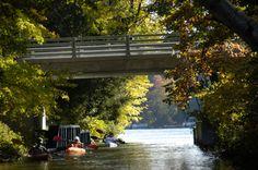 "The ""channel"" between Dake & Columbia Lakes, Chain O' Lakes, Waupaca,WI"