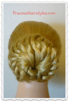 Star Flower Bun Updo Hairstyle - bjl