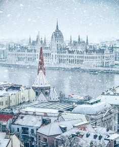 A winter's tale ☃~ Budapest, Hungary Phot Budapest Winter, Budapest Christmas, Most Beautiful Cities, Wonderful Places, Capital Of Hungary, Hungary Travel, Europe Holidays, Heart Of Europe, Destinations