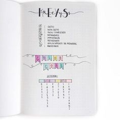 Bullet Journal Key. Show & Tell with Clarissa @my_journaling_corner
