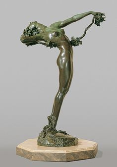 Harriet Whitney Frishmuth, (American, 1880–1980). The Vine, 1921; revised 1923; this cast, 1924. The Metropolitan Museum of Art, New York. Rogers Fund, 1927 (27.66) #dance | In the early twentieth century, sculptures of dancing women were produced in great numbers, inspired in part by the success of dancers Isadora Duncan, Loïe Fuller, and Anna Pavlova. Frishmuth often turned to dancers for her sculptural themes and employed them to pose for her with musical accompaniment.
