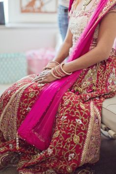 Lovely Indian jhari work on this dress....!