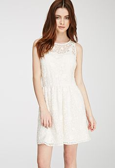 Floral-Embroidered A-Line Dress | FOREVER21 - 2049258265