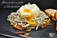 Huevo poché con gulas y rösti de patata