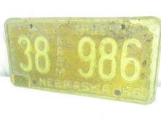 Vintage Nebraska License Plate, Rusty License Plate, Vintage Farm Truck Tag, 1956 Tag, Automobile Collector, Man Cave, Garage Decor by KarensChicNShabby on Etsy