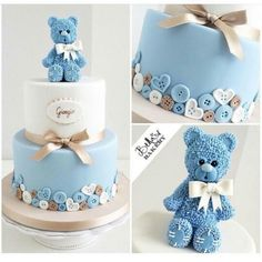 17 Beautiful Baby Shower Cakes To Lust Over Baby Cakes, Cupcake Cakes, Pink Cakes, Gateau Baby Shower, Baby Shower Pasta, Teddy Bear Cakes, Baby Shower Cakes For Boys, Simple Baby Shower Cakes, Cakes For Kids
