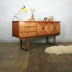 Vintage Mid Century Teak Sideboard