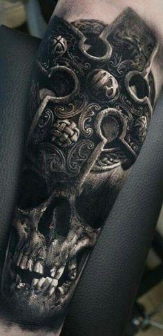 Realistic Skull Tattoos Designs