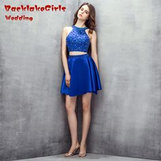 f4cd220cc6d6 BacklakeGirls Wedding 2017 Hot A Line Beading Crystal Sequined Cut out  Above Knee ,Mini Satin Cocktail Party Dresses Customized-in Cocktail Dresses  from ...