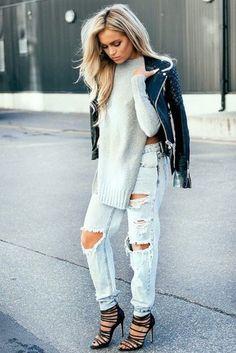 Модни идеи със скъсани дънки