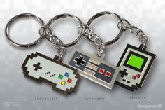 Nintendo Retro Game Console Themed Keychains
