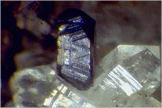 Miargyrite, AgSbS2, Braunsdorf, Saxony, Germay. Metallic miargyrite crystal on quartz. Copyright:© Lou Perloff