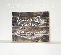 Nursery Art Rustic Nursery Art Reclaimed Wood by FrannyChicago