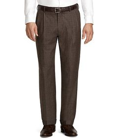 Madison Fit Plaid Pleat-Front Dress Trousers. Win Brooks Brothers discount Gift Cards on http://www.cityhits.com and use them towards dress trousers like these. #mens #fashion #fall2013