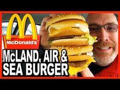 McDonald's ★ Secret Menu Item ★ The McLand, Air and Sea Burger Food Review - YouTube