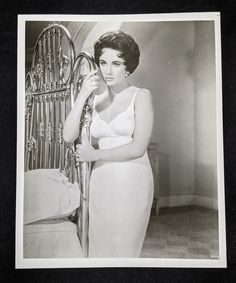 Elizabeth Taylor Glossy 8 x 10 Black and White Publicity | Etsy