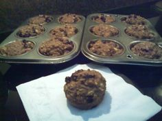 HIGH FIBER, HIGH PROTEIN MUFFINS - WONDER IF I CAN GET THE KIDS TO EAT THIS..... MAYBE ADD SOME BANANA....UMMMM