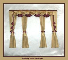 242 Best Miniature Curtains Images Window Treatments