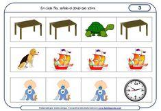 Fichas de razonamiento para niños elaboradas por Jesús Jarque Familia Y Cole, Thinking Skills, Math, School, Special Education, Comprehension Activities, Learning, Personal Development, Kids