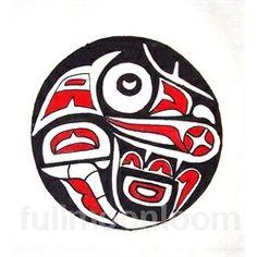 hand paint, batik textil, textil art, american indian, indian raven, textile art