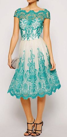 Premium Embroidered Lace Dress