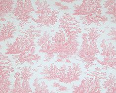Shower Curtain Baby Pink Toile Size 72x72 Jamestown by HomeLiving