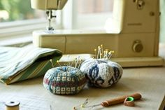 Knitted Pincushions by hope54