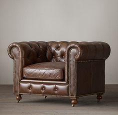 Petite Kensington Leather Chair