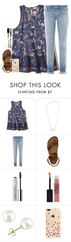 """"" by southernstruttin ❤ liked on Polyvore featuring Hollister Co., Kendra Scott, Marc by Marc Jacobs, Birkenstock, Clinique, Maybelline, Miadora and Kate Spade"