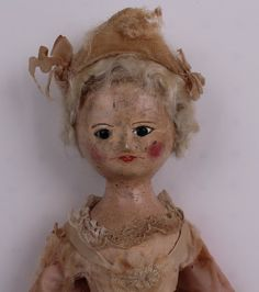 A rare George III carved wooden child doll, Englis : Lot 180