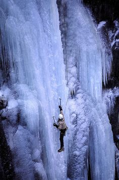 Ice climbing Norway