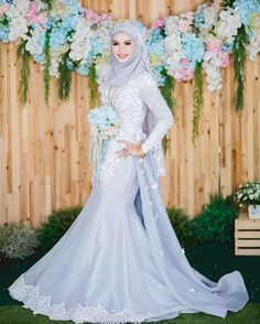 Malay Wedding Dress, Muslim Wedding Gown, Groom Wedding Dress, Muslim Wedding Dresses, Pink Wedding Dresses, Groom Dress, Wedding Attire, Wedding Gowns, Hijab Dress Party
