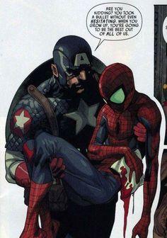 Ultimate Capitain America & Ultimate Spiderman