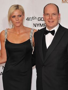Prince Albert II of Monaco and Charlene Wittstock attend the Golden Nymph awards ceremony during the 2008 Monte Carlo Television Festival held at Grimaldi Forum on June 12, 2008 in Monaco, Principality of Monaco.