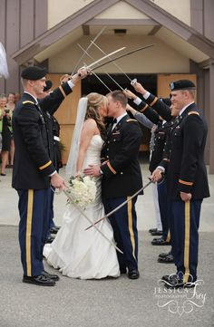 You know I love a military wedding.