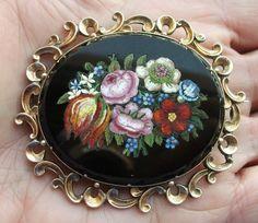 Wonderful Victorian Micro Mosaic Brooch Layaway Welcome   eBay $1500