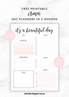 Daily Planner Printable  Daily Goals Planners And Goal