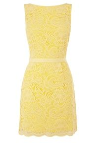 Love this yellow lace dress, but you better have a good tan!