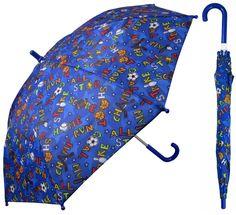 "32"" Children Kid Blue Sport Umbrella - RainStoppers Rain/Sun UV Cute #RainStoppers #StandardClassic"